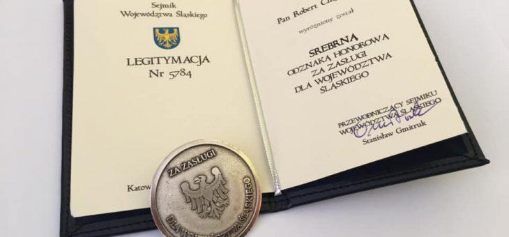 Srebrna Odznaka Honorowa dla Roberta Chądzyńskiego